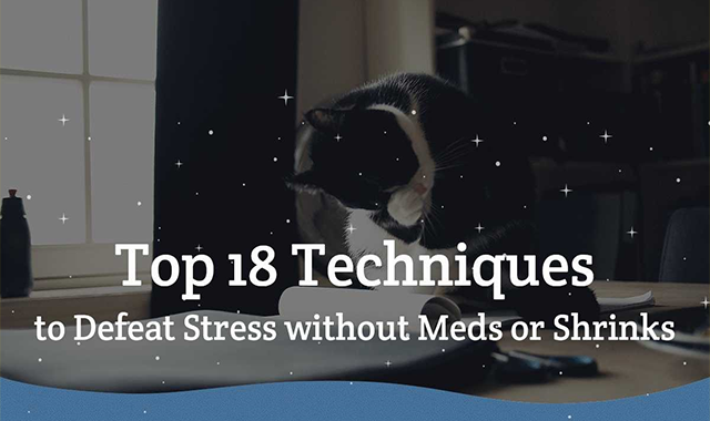 Top 18 Techniques to Defeat Stress Without Meds or Shrinks #infographic