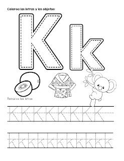 Trazos de las letras del abecedario mayúsculas y minúsculas