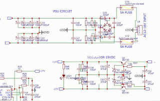 POwer supply circuit for 2.1 channel amplifier