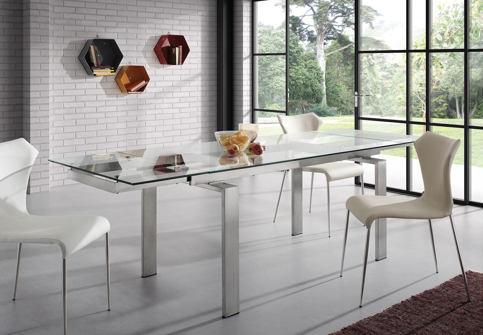 Mesas de comedor como decorar una mesa de comedor de cristal - Mesa de comedor cristal ...