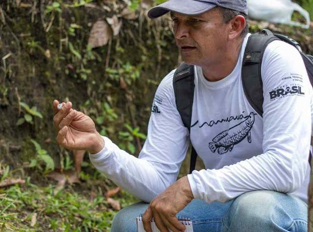 Arqueólogo Márcio Amaral do Instituto Mamirauá