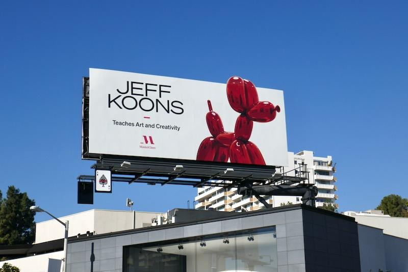 Jeff Koons MasterClass billboard