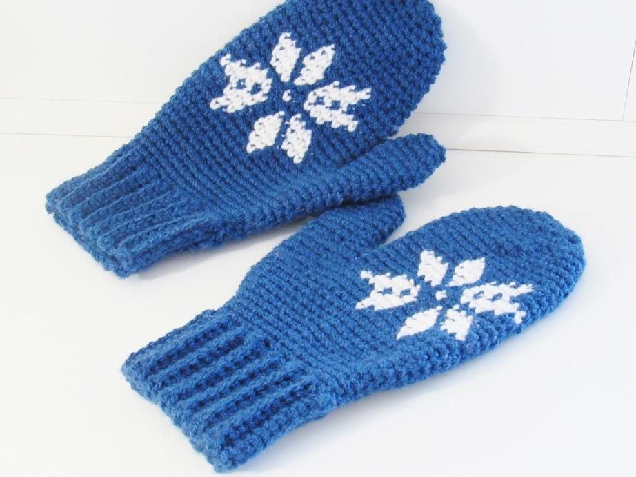 Snowflake Mittens Free Crochet Pattern Crochet Dreamz