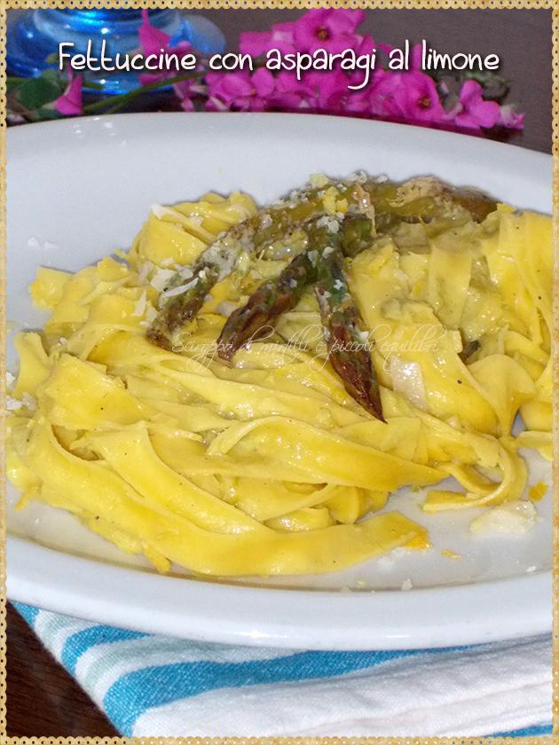 Fettuccine con asparagi al limone