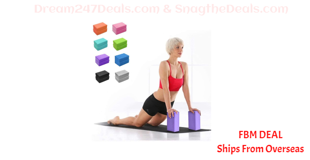 80% OFF Yoga Block 2 Pack, High Density EVA Foam Yoga Brick to Support and Deepen Poses, for Yoga Pilates Meditation, Improve Balance & Flexibility Perfect for Home or Gym, Non-Slip Odor Resistant