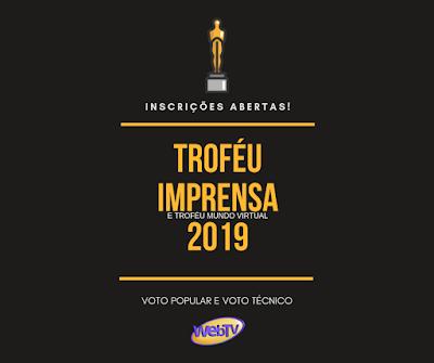 Imagem do Troféu Imprensa virtual 2019