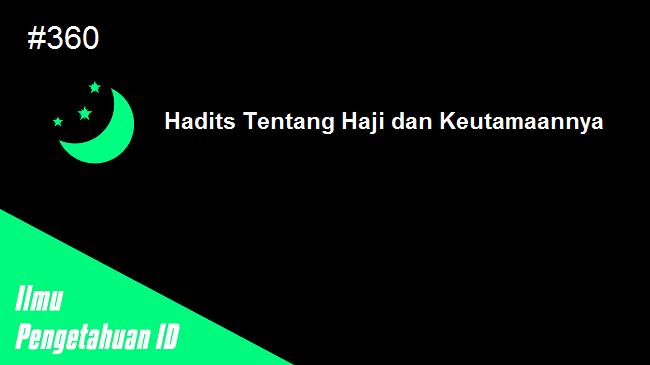 hadits tentang haji