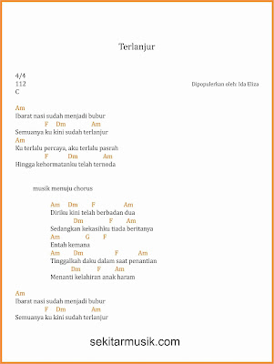 chord terlanjur dangdut ida eliza