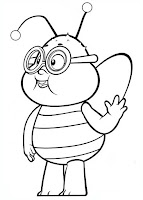 דפי צביעה דמויות הדבורה מאיה