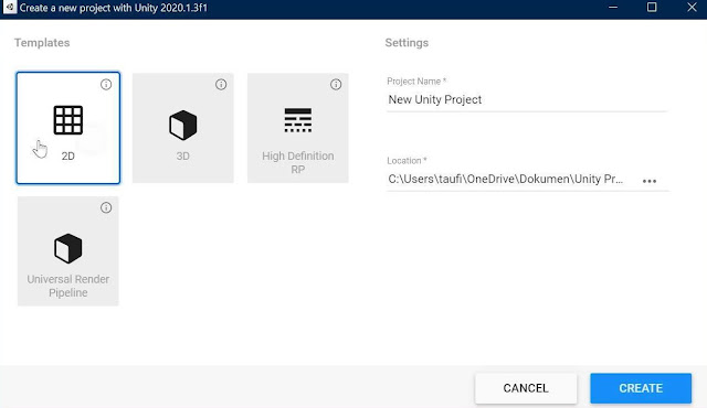 project setting unity