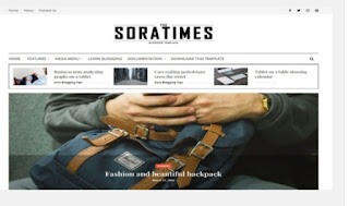 Sora Times Responsive high quality free Blogger templates