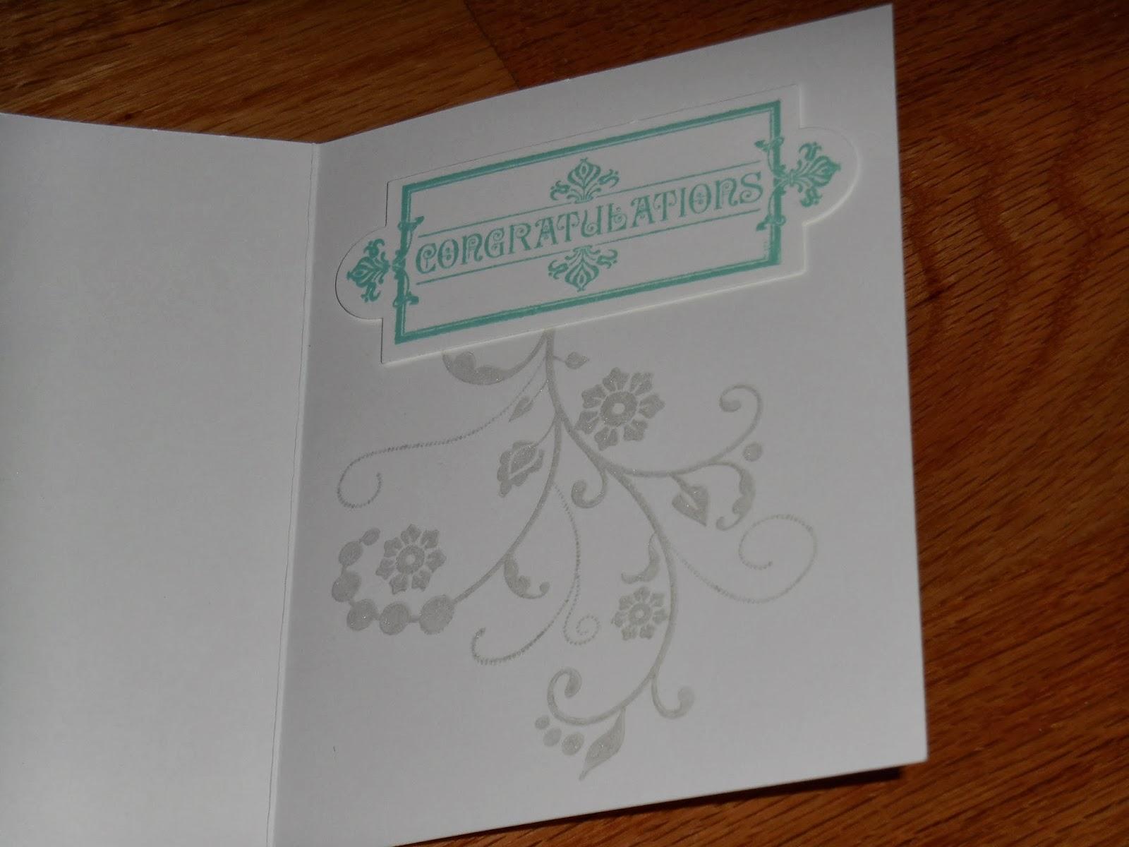 cheryl  scrapping rules wedding card