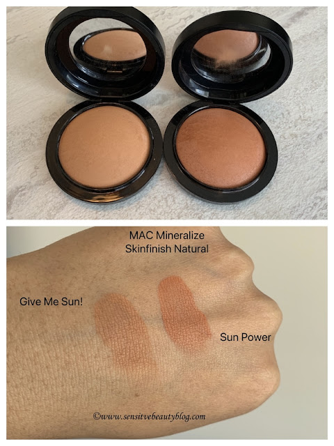 MAC Sun Power and Give me Sun Swatches