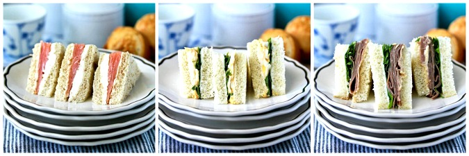 Tea sandwich trio