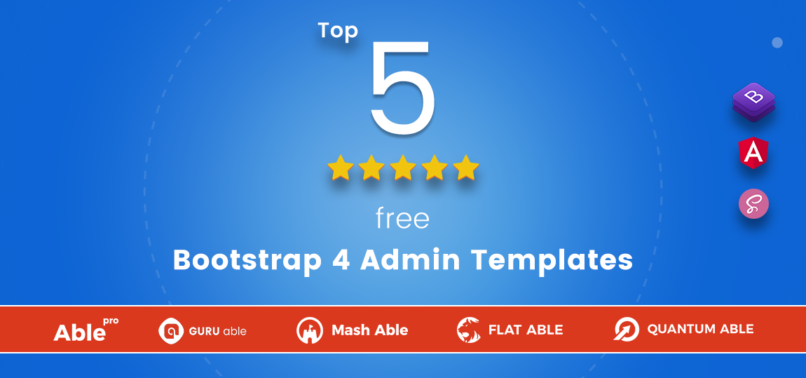 Top 5 Free Bootstrap 4 Admin Dashboard Templates For Your Web App ...