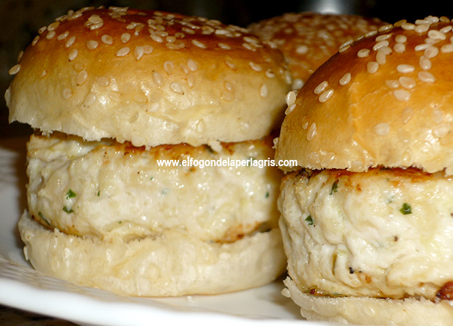 Mini hamburguesas de pollo