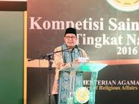 Pesan Menteri Agama di Ajang Kompetisi Sains Madrasah