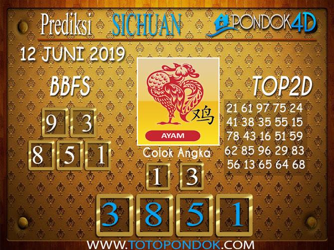 Prediksi Togel SICHUAN PONDOK4D 12 JUNI 2019