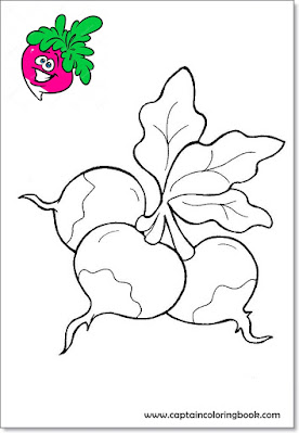 Vegetable coloring pages-3