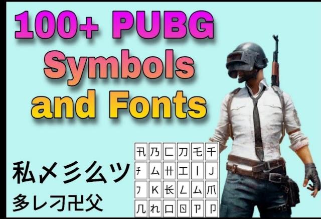 100+ PUBG Symbols and Cool Fonts 2020 - Best and Unique PUBG Names Latest