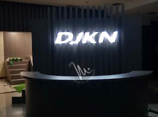 Huruf timbul acrylic kantor DJKN Serang Banten