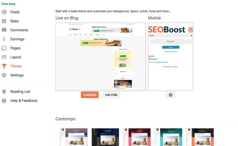 blogger html模板