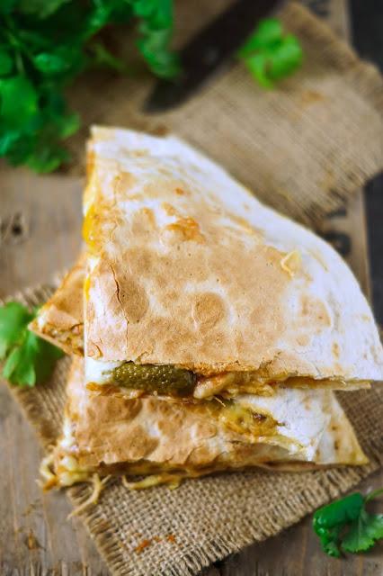 quasadilla, kurczak, kfc, panierka, tortilla, obiad, zapiekanka, bernika, kulinarny pamietnik