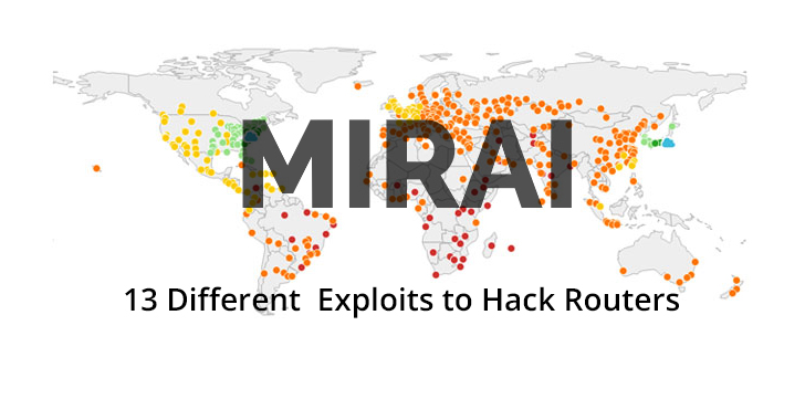 Mirai Variant  - Mirai 2BVariant - Mirai Variant Using 13 Different Exploits to Hack Routers