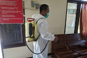 Cegah Virus Corona, Kantor Dan Asrama Polisi Disemprot Cairan Disenfektan