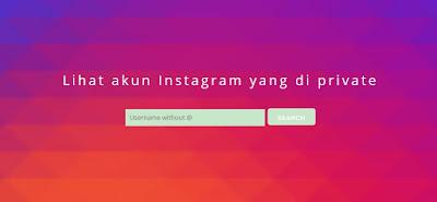 Cara melihat akun Instagram yang di private