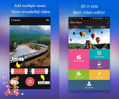 Tampilan Aplikasi VideoShow Pro