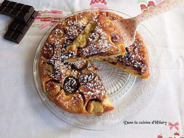 Le fameux gâteau à la poêle version banane et chocolat - Dans la cuisine d'Hilary