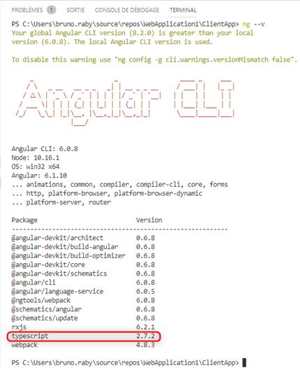 Agular CLI avec Visual Studio Code