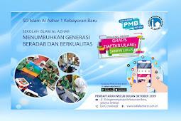 PMB SD Islam Al Azhar 1 2020-2021 | Sekolah Al Azhar