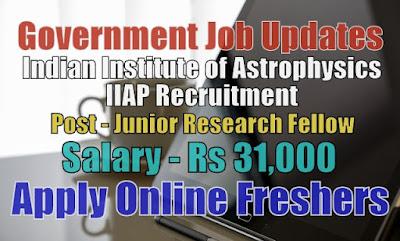 IIAP Recruitment 2020