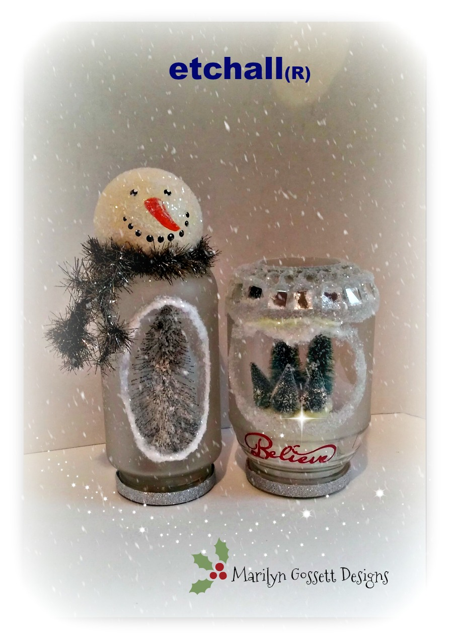 Marilyn Gossett Designs Diy Snow Globe With Etchallr