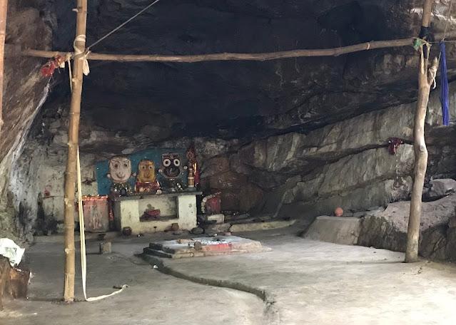 Art of Lord Jagannath, Balabhadra and Maa Subhadra near Nandinia Waterfall, Hindol