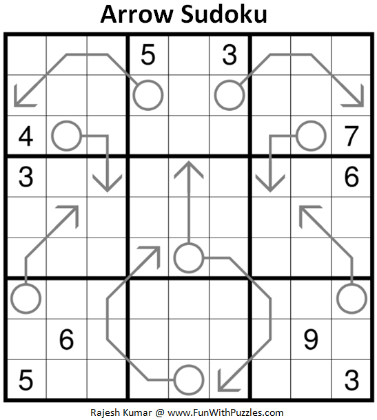 Arrow Sudoku Puzzle (Daily Sudoku League #197)