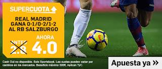 07/08|18:00 RB Salzburg - Real Madrid - Real Madrid gana 1-0, 2-0 o 2-1 (Antes 2.80) (Ahora 4.0)