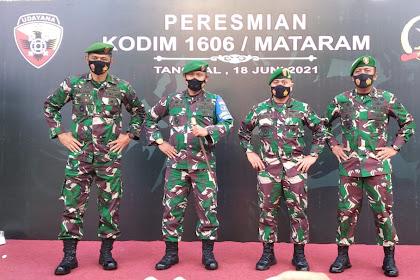 Peresmian Kodim 1606/MATARAM,Pamerkan Dokumen Sejarah Mataram