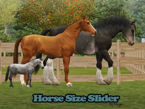 Sims Horses Horse Size Slider By Bongomazing