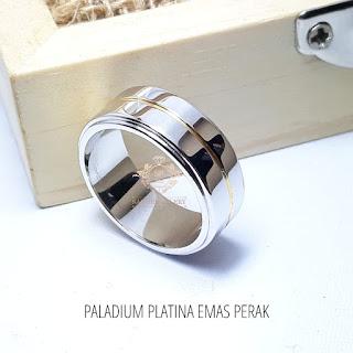 cincin paladium platina perak khusus pria