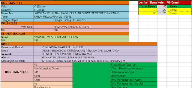 gambar Download Aplikasi Rapor SD KTSP Excel Tahun Pelajaran 2016/2017