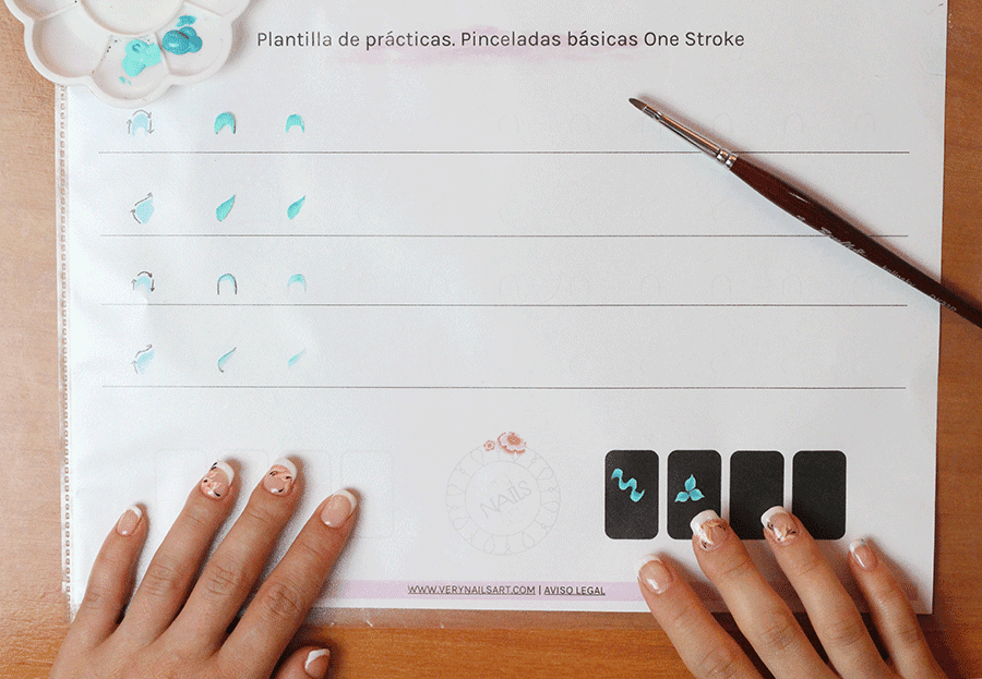 PLANTILLA DE PRÁCTICA ONE STROKE | TRAZOS BÁSICOS