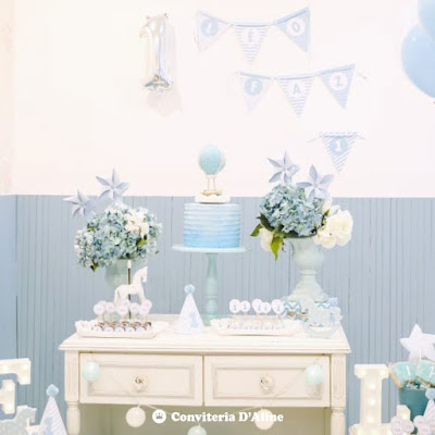 decoracao festa infantil sem tema minimalista