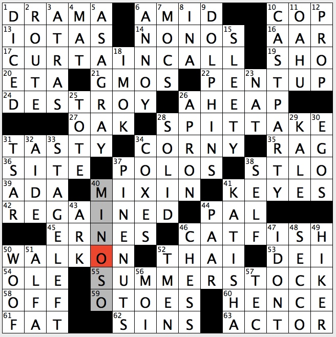 Rex Parker Does the NYT Crossword Puzzle: Nanki-poo's pursuer in