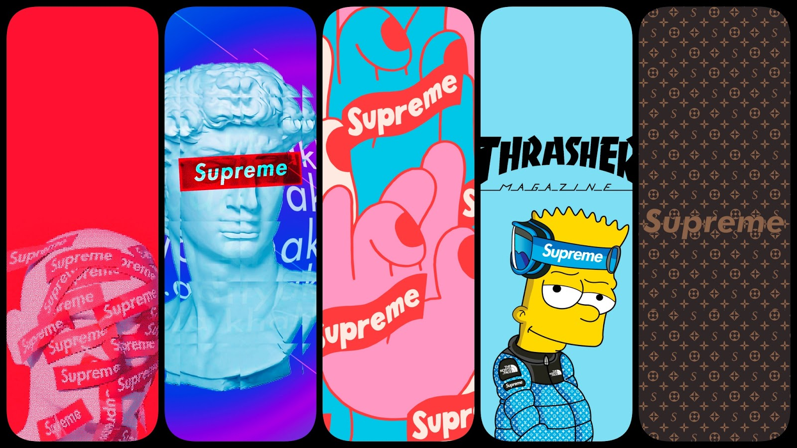 Supreme phone wallpaper collection