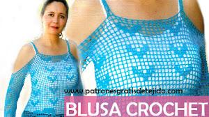 Patrones Crochet de Blusa con Explicación Paso a Paso