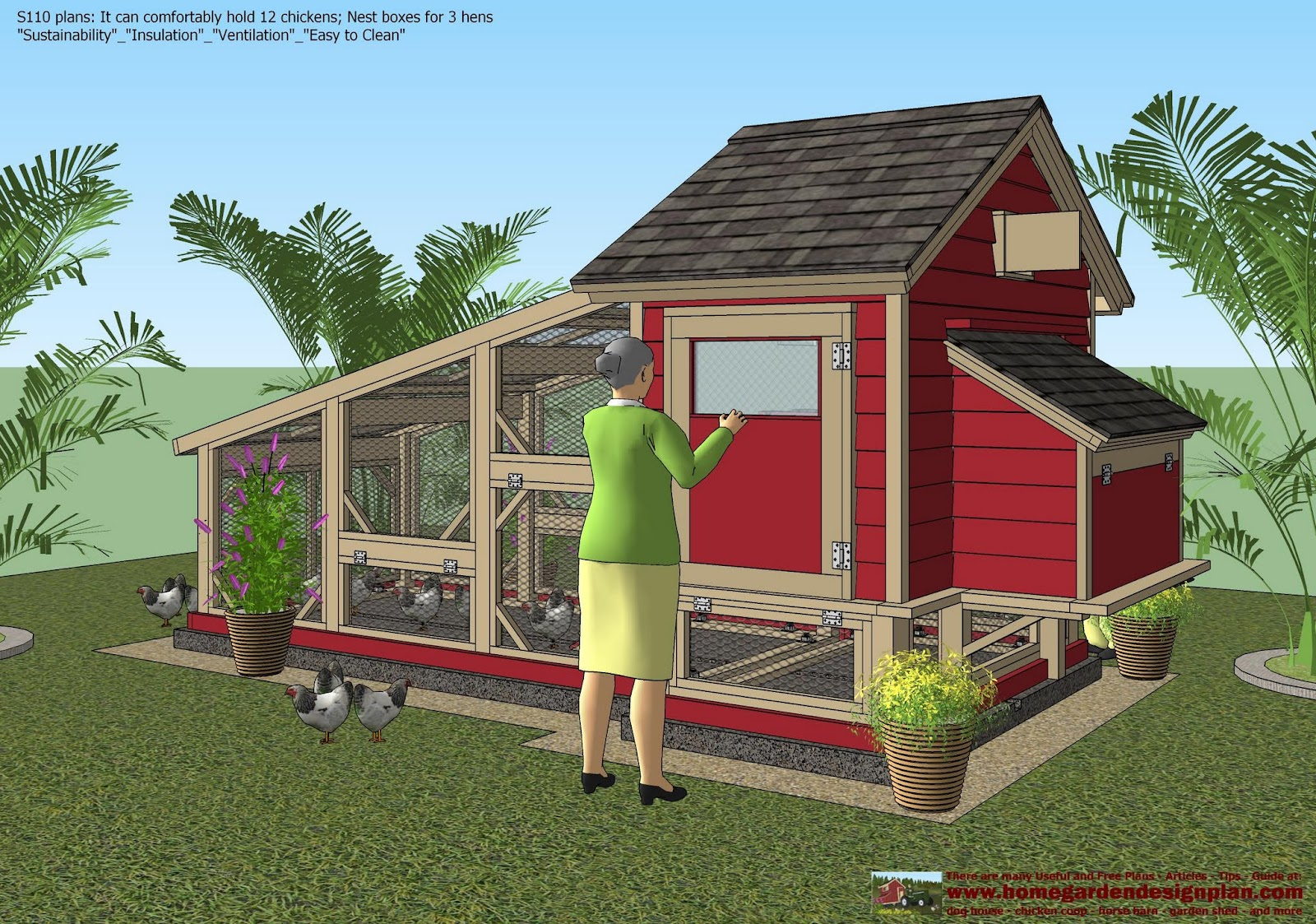 A Frame Coop Plans: Chicken Coop Plans Construction