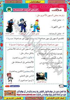 مذكرة اكتشف الصف الاول الابتدائي الترم الاول من كتاب قطر الندى